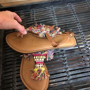Z & L, Anthropologie, Sandals. Worn once